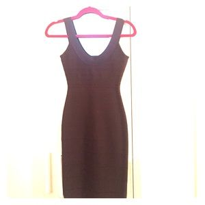 Authentic Herve Leger gray tank bandage dress