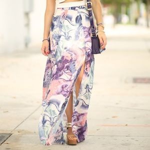 In love with fashion Dresses & Skirts - Double slit marble maxi skirt