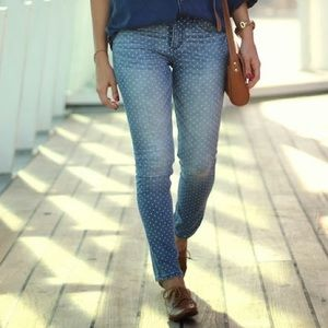 Abercrombie polka dotted jeans