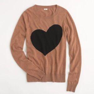 22cfeaf0cc1 J. Crew Sweaters - J. Crew Factory Heart crewneck sweater