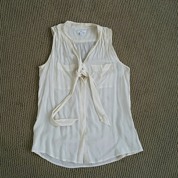 Sheer Sleeveless Bow Blouse 94