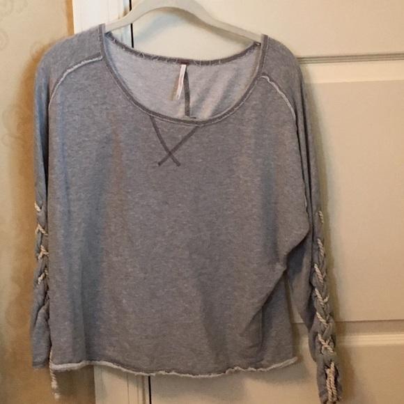 55 Off Free People Tops Long Sleeve Sweatshirt Type