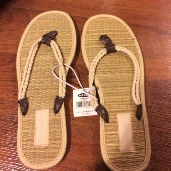 4938d626f8cb49 Bamboo rope flip flops. Boutique. Old Navy