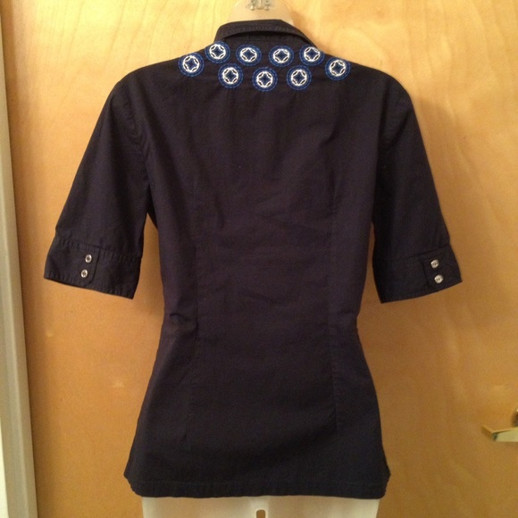 89 off tory burch tops tory burch vintage embroidered for Tory burch button down shirt