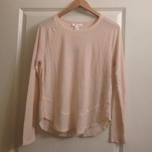 6b2a7f3b6d1da ... Long sleeve lightweight waffle knit top ...