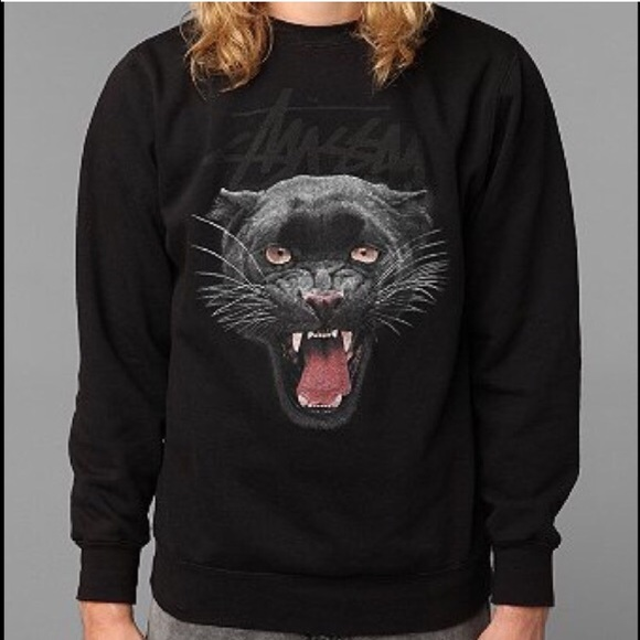 Stussy - Black Panther Crew Neck Sweatshirt from !!! kimberlyn ...