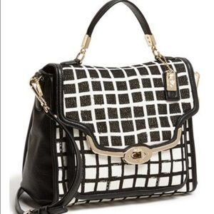 Coach Handbags - Coach Madison Sadie Small Grid Print Satchel