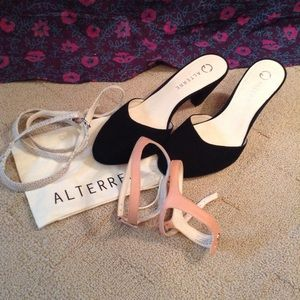 2f96712c9f0 Alterre Shoes | Sale Ny Heels W Interchangeable Straps | Poshmark