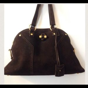 76% off Yves Saint Laurent Handbags - YSL Sac Muse Suede from ...