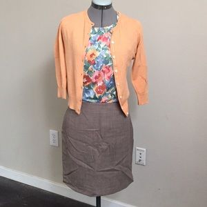 LOFT Dresses & Skirts - Loft Brown Wool Pencil Skirt.