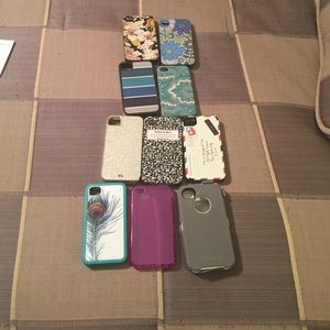 Many Accessories - 10 iPhone 4S cases.