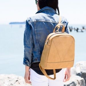 Handbags - Faux Leather Backpack