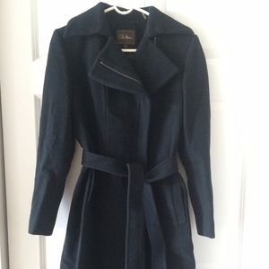 Cole Haan Wool black coat