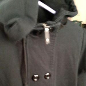 Northface blackish grey hoodie. Stretchable.