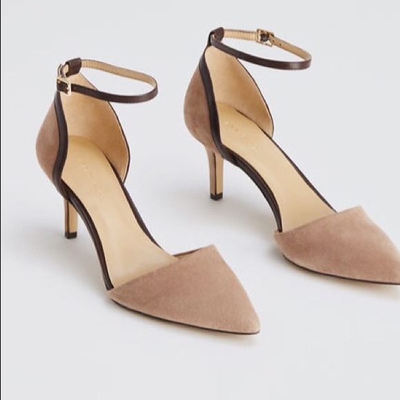 75% off Ann Taylor Shoes - Ann Taylor Wendy Suede Ankle Strap ...