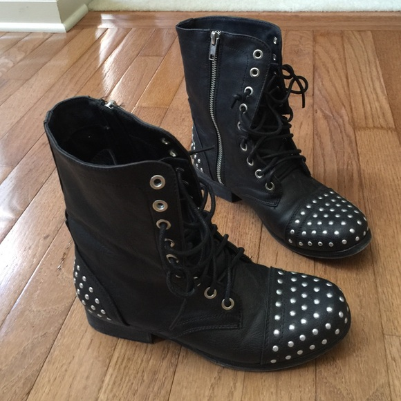 Madden Girl Studded Combat Boots