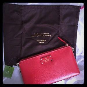 NWT Kate Spade Wellesley Garnet Leather purse.