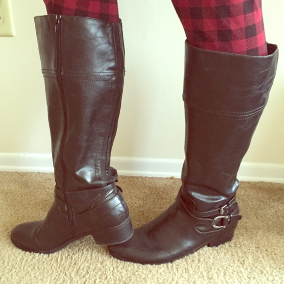 79% off Unisa Shoes - Wide width black riding boots! from Betsey's ...