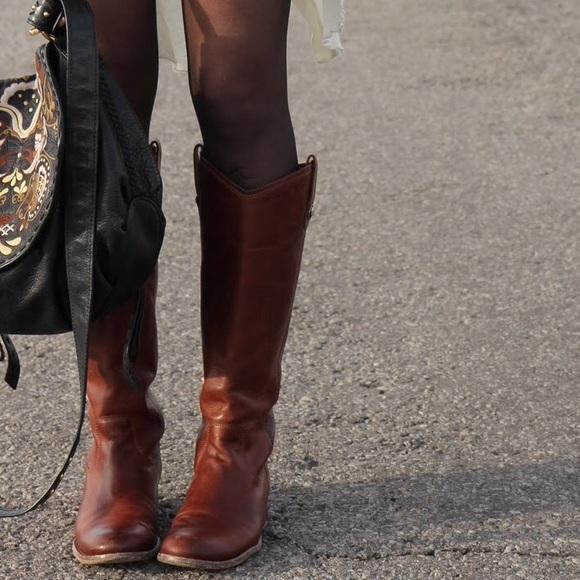 2fec60c96dc Frye Boots - Melissa Button - Bordeaux - 8