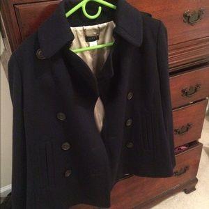 Never worn jcrew classic pea coat navy