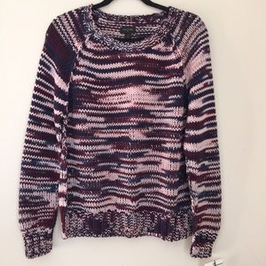 True Religion heavy knit multicolor sweater.