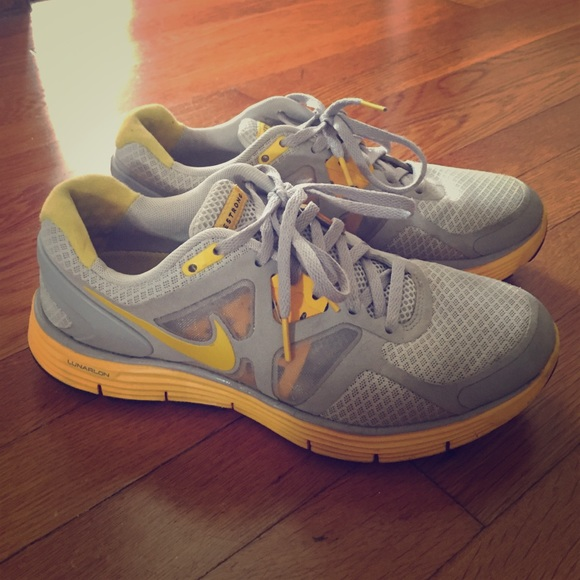 Grey & Yellow Nike Livestrong Sneakers