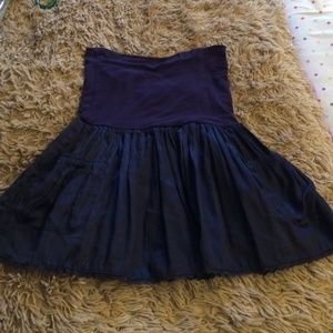 Charlotte Russe Navy Foldover Skirt