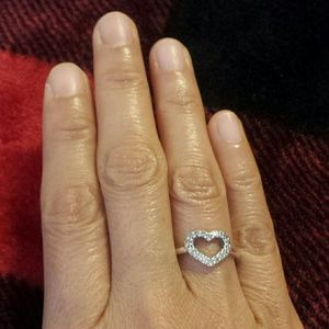 Pandora Jewelry Authentic Be My Valentine Clear Cz Ring Poshmark