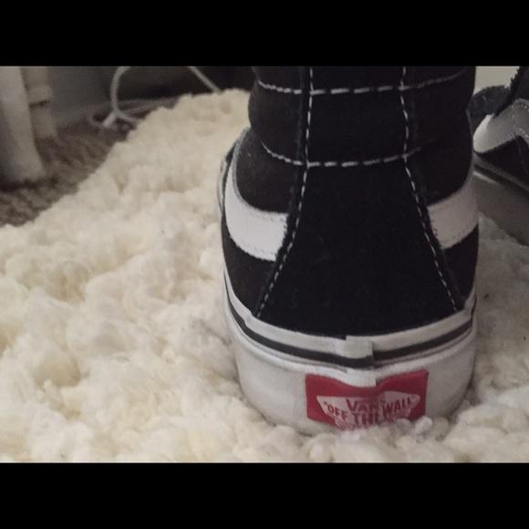 Furgonetas Mujeres De Los Zapatos Tamaño De 7 Blanco Y Negro XQ5GRwu