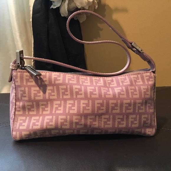 a5fd8239410f FENDI Handbags - FENDI authentic small LOGO purple purse