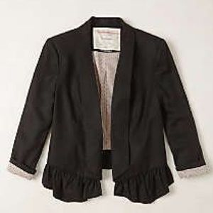 Anthropologie black blazer