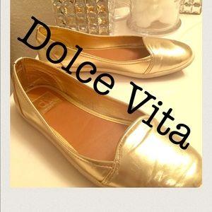 ❤️Dolce Vita Flats Gold Flats ❤️