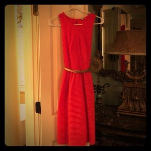 Anthropologie Coral Sleevless Dress. Size S NWOT