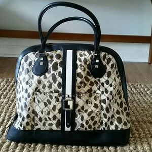 L.A.M.B. Handbags - REDUCED! L.A.M.B. Cheetah Kingston Bowler Bag