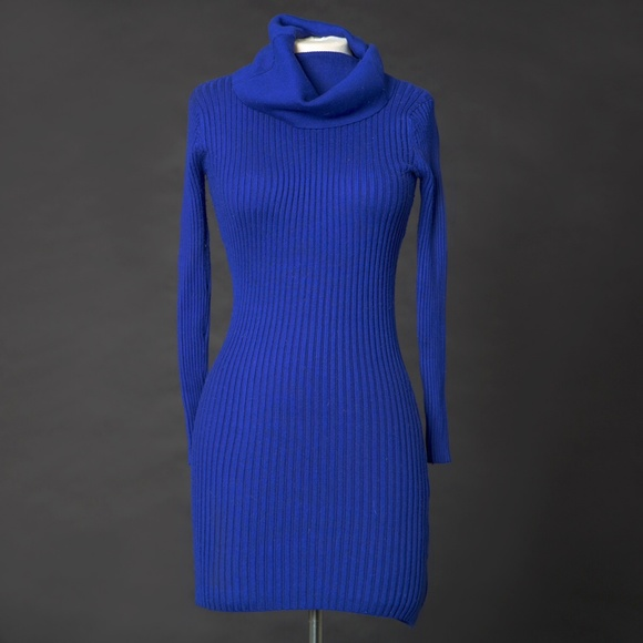 Royal Blue Cowl Neck Sweater Dress M from Nicole's closet on Poshmark