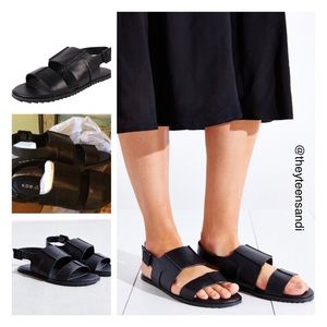 Kelsi Dagger Shoes - Urban Outfitters Kelsi Dagger Black Leather Sandal