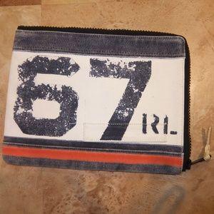 Ralph Lauren Handbags - Ralph Lauren RL Canvas iPad Pouch Case