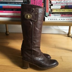 Coach Sara Leather Riding Boots