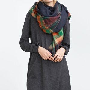 🎉500k SALE🎉NWT Zara Plaid Blanket Scarf