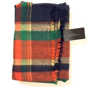 ❗️FINAL PRICE❗️NWT Zara Plaid Blanket Scarf
