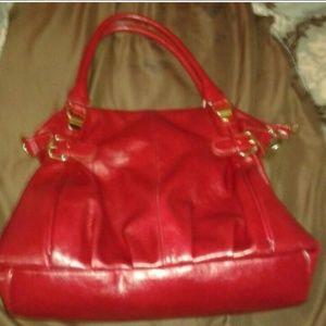 Red Leather Steve Madden Bag
