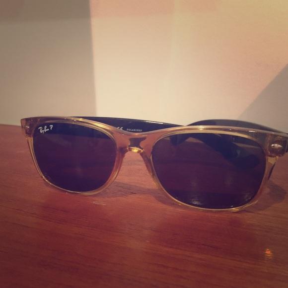 c186c3fcc71 Ray-Ban Accessories - Ray-Ban 2132 New Wayfarer Polarized- Honey Frame