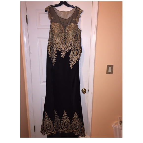 Black And Gold Dress | Poshmark