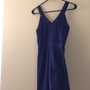Old Navy navy eyelet dress