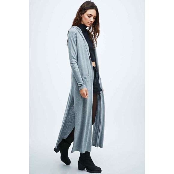 75% off Urban Outfitters Sweaters - Ecote Hooded Duster -- BLUE ...