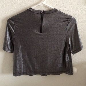 Forever 21 Tops - Silver smooth crop top