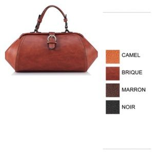 Short top handle satchel