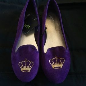 Shoes - Royal Purple Queen Bee Ballet Flat. New w/ Tags