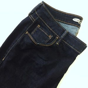Old Navy Denim - Old Navy 'The Rockstar' dark wash skinnies.