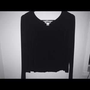 Tops - long sleeve black shirt with pocket